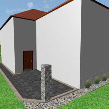 Projekt brukarski 3d kostka dookoła domu