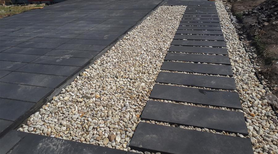 Ułożenie podjazdu i chodnika z płyt Certus Design 30