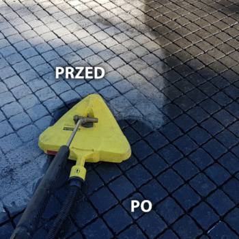 Czyszczenie Kostki Brukowej | 320m | Warszawa | Realizacja