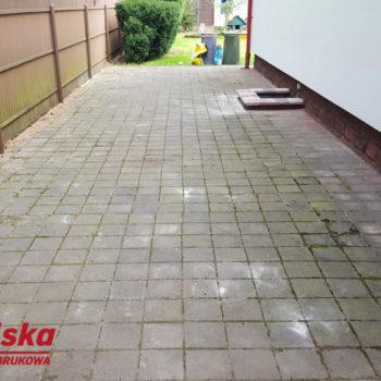 Czyszczenie kostki brukowej Warszawa 160m