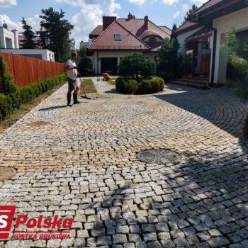Ułożona kostka granitowa Warszawa