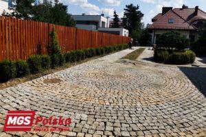 Ułożona kostka granitowa Warszawa Wawer